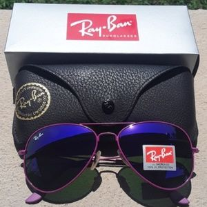 Brand New All Purple RayBan Aviators 62mm